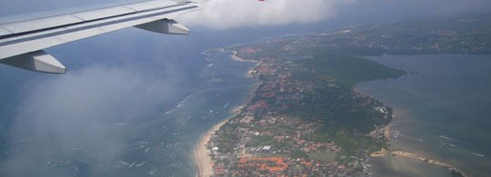 Flying over Bali, Indonesia