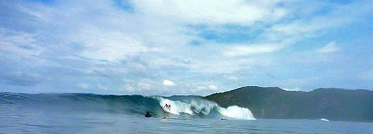 Set Wave at Witches Rock, Costa Rica