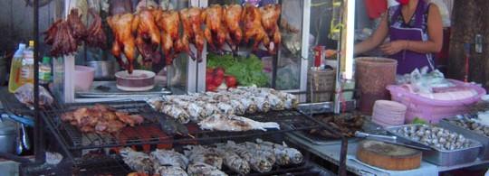 BBQ Street Food Stand, Bangkok, Thailand