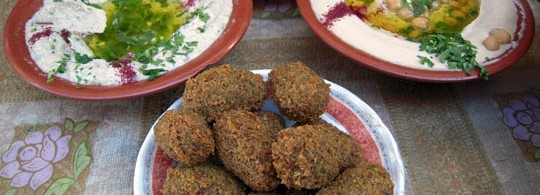 Falafel and Hummus in Jerusalem, Israel